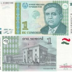 Billetes extranjeros: TAYIKISTAN - TAJIKISTAN 1 SOMONI 1999 PICK 14.A SIN CIRCULAR. Lote 88367744