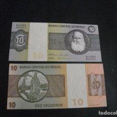 Billetes extranjeros: PRECIOSO BILLETE PLANCHA DE BRASIL 10 CRUCEIROS VER TODOS MIS LOTES DE BILLETES . Lote 94985411