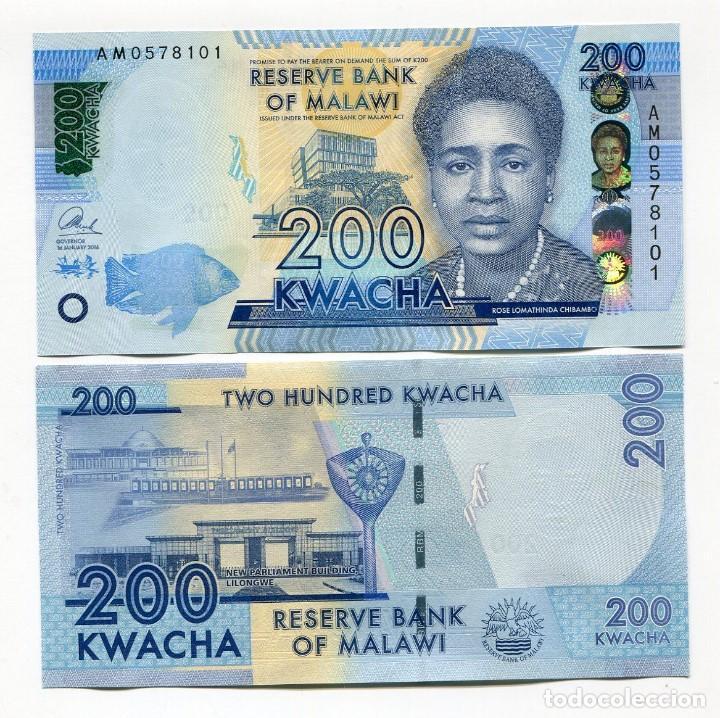 Malawi 200 Kwacha UNC P-60 New 2016
