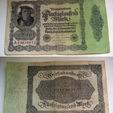 Billetes extranjeros: BILLETE DE ALEMANIA 50000 MARCOS 1922 . Lote 88885192