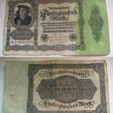 Billetes extranjeros: BILLETE DE ALEMANIA 50000 MARCOS 1922 . Lote 88885196
