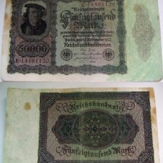 Billetes extranjeros: BILLETE DE ALEMANIA 50000 MARCOS 1922 . Lote 88885252