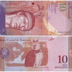 Billetes extranjeros: VENEZUELA 10 BOLIVARES 2007 PICK 90.A UNC. Lote 43521886