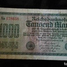 Billetes extranjeros: ALEMANIA 1000 MARCOS, 1922. Lote 89208768