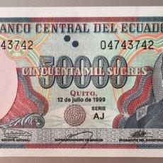 Billetes extranjeros: ECUADOR. 50000 SUCRES. Lote 89409806