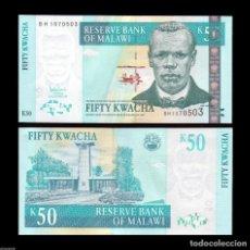 Billetes extranjeros: MALAWI - 50 KWACHA - 31ST. OCTOBER 2007 - S/C. Lote 89487128