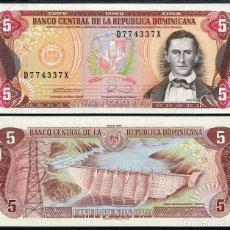 Billetes extranjeros: REPUBLICA DOMINICANA - 5 PESOS ORO - AÑO 1990 - S/C. Lote 89491104