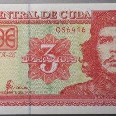 Billetes extranjeros: CUBA. 3 PESOS. Lote 89663314