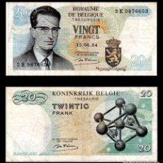 Billetes extranjeros: BELGICA 20 FRANCOS 1964 PIK 138 MBC-. Lote 89789816