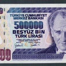 Billetes extranjeros: TURQUIA. 500.000 LIRAS TURCAS. AÑO 1970. SIN CIRCULAR.. Lote 89854444