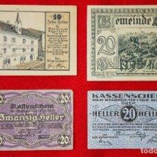 Billetes extranjeros: LOTE DE 4 BILLETES AUSTRIACOS ANTIGUOS. Lote 90088524