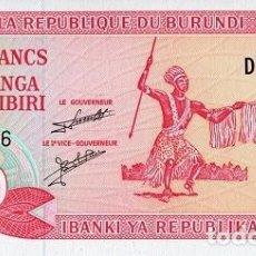 Notas Internacionais: [CF7584] BURUNDI 2007, 20 FRANCOS (UNC). Lote 237498920