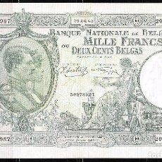 Billetes extranjeros: BELGICA 1000 FRANCOS-200 BELGAS 1943 MBC+/EBC-. Lote 90503460