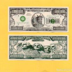 Billetes extranjeros: BILLETE 1000000 UN MILLON DOLARES USA ESTADOS UNIDOS AMERICA UNITED STATES. FANTASIA. MONTE RUSHMORE. Lote 138165397