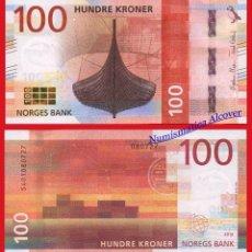 Billetes extranjeros: NORUEGA 100 CORONAS KRONEN 2016 2017 BARCO VIKINGO - SC. Lote 98402286