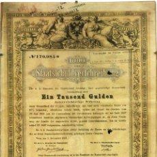 Billetes extranjeros: DOCUMENTO DE 1000 GULDEN. PAPEL IMPRESO Y MANUSCRITO. VIENA. 1868. Lote 91122175