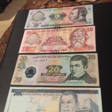 Billetes extranjeros: SET DE BILLETES DE HONDURAS 5-50 LEMPIRAS 2010-14 UNC SC. Lote 91317417