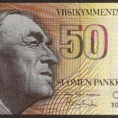 Billetes extranjeros: FINLANDIA. 50 MARKKAA 1986. SIN LITT. PICK 114. VARIANTE DE FIRMAS.. Lote 91478334