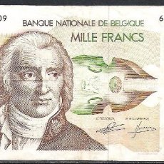 Billetes extranjeros: BELGICA 1000 FRANCOS 1980 MBC. Lote 91814305