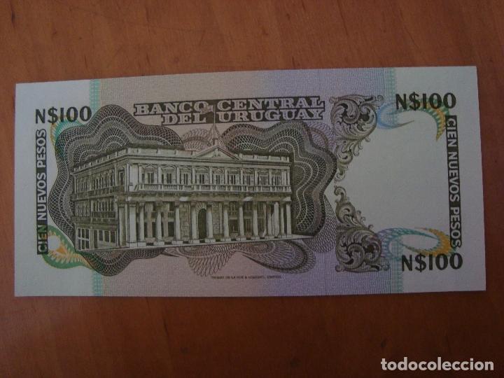 Billetes extranjeros: BILLETE URUGUAY 100 NUEVOS PESOS SIN CIRCULAR - Foto 2 - 91937513