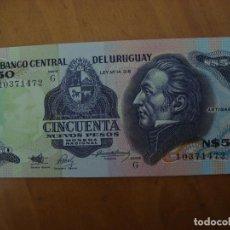 Billetes extranjeros: BILLETE URUGUAY 50 NUEVOS PESOS SIN CIRCULAR. Lote 91937690