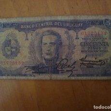 Billetes extranjeros: BILLETE URUGUAY 50 PESOS. Lote 91938040