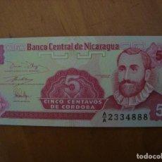 Internationale Banknoten - BILLETE NICARAGUA 5 CENTAVOS DE CORDOBA SIN CIRCULAR - 91941230