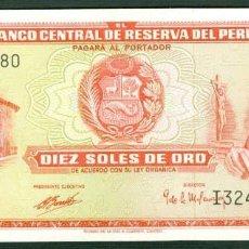 Billetes extranjeros: PERU - 10 SOLES DE ORO - 4 DE MAYO DE 1972 - S/C (VER FOTO ADICIONAL). Lote 91947805