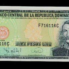 Billetes extranjeros: REPUBLICA DOMINICANA - 10 PESOS ORO - AÑO 1996 - S/C (VER FOTO ADICIONAL). Lote 91949030
