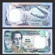 Billetes extranjeros: COLOMBIA : 1000 PESOS 2 OCT.1995. SC.UNC. PK.438. Lote 156888677