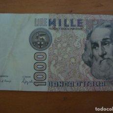 Billetes extranjeros: BILLETE ITALIA 1000 LIRAS 1982. Lote 91273649