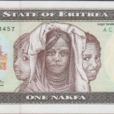 Billetes extranjeros: BILLETES - ERITREA - 1 NAKFA 1997 - SERIE AC 4848456 - PICK-1 (SC). Lote 128321703