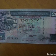 Billetes extranjeros: BILLETE HONG KONG 20 DOLARES 1993 REPRODUCCION PLASTIFICADO. Lote 92302143