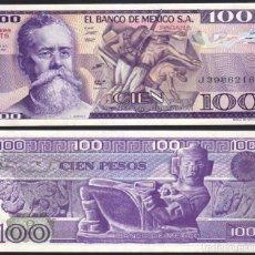 Billetes extranjeros: BILLETE MEJICO - 100 PESOS - 1981 - PICK-74 - PLANCHA. Lote 92878395