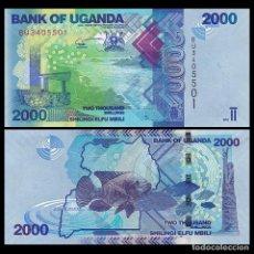 Billetes extranjeros: UGANDA - 2000 SHILINGI - AÑO 2017 - S/C. Lote 106599278