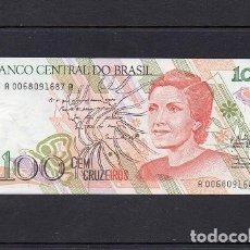 Billetes extranjeros: BRASIL 1990, 100 CRUZEIROS, P-228, SC-UNC, 2 ESCANER. Lote 93134085