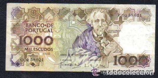 PORTUGAL - 1.000 ESCUDOS 1988 P.181 EBC (Numismática - Notafilia - Billetes Internacionales)