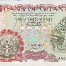 Billetes extranjeros: BILLETES GHANA - 2000 CEDIS 1996 - SERIE AA 0023374 - PICK-33A (SC). Lote 222227672