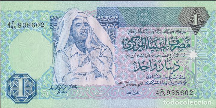 BILLETES - LIBYA 1 DINAR (1993) - SERIE 4C/40-938613 - PICK-59A (SC) (Numismática - Notafilia - Billetes Extranjeros)