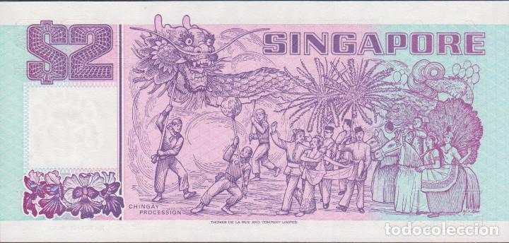 Billetes extranjeros: BILLETES SINGAPUR - 2 dollars 1992 - serie fw 484281 - pick-28 (SC) - Foto 2 - 188778437