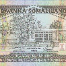 Billetes extranjeros: BILLETES SOMALILAND - 100 SOMALILAND SHILLINGS 1996 - SERIE AZ 011076 - PICK-5B (SC). Lote 237406010