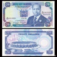 Billetes extranjeros: KENYA (KENIA) - 20 SHILINGI - 1ST. JULY 1989 - S/C. Lote 169766464