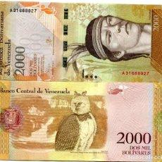 Billetes extranjeros: VENEZUELA 2000 BOLIVARES 2016 (2017) P-NEW UNC. Lote 94576523