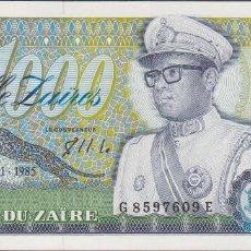Billetes extranjeros: BILLETES - ZAIRE - 1000 ZAIRES 1985 - SERIE G 8597606 E - PICK-31 (SC). Lote 237406465