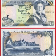 Billetes extranjeros: JERSEY 20 LIBRAS AÑO 2000 PICK 29A - SC. Lote 94812191