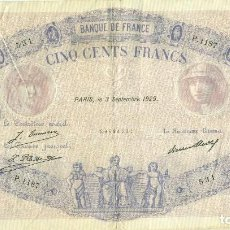 Billetes extranjeros: 500 FRANCOS PARIS A 3 DE SEPTIEMBRE DE 1929. Lote 94813027