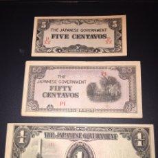 Billetes extranjeros: LOTE DE BILLETE DE JAPÓN SEGUNDA GUERRA OCUPACIÓN SET 1-100 PESOS 1941. Lote 95095771