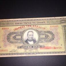 Billetes extranjeros: GRECIA 1000 DRACMAS 1926 USADO BILLETE GRAN TAMAÑO. Lote 95096116