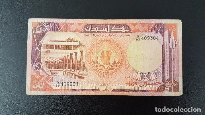 SUDÁN 50 LIBRAS SUDANESAS 1989 PICK 43B BC F (Numismática - Notafilia - Billetes Extranjeros)