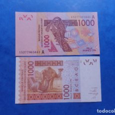 Billetes extranjeros: ESTADOS DE AFRICA DEL OESTE (COSTA DE MARFIL-A) - 1000 FRANCS - AÑO 2003(2015) - S/C. Lote 104616140